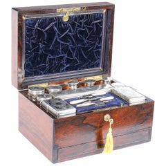 Antique Victorian Sterling Silver Travelling Dressing Case 1861, 19th Century