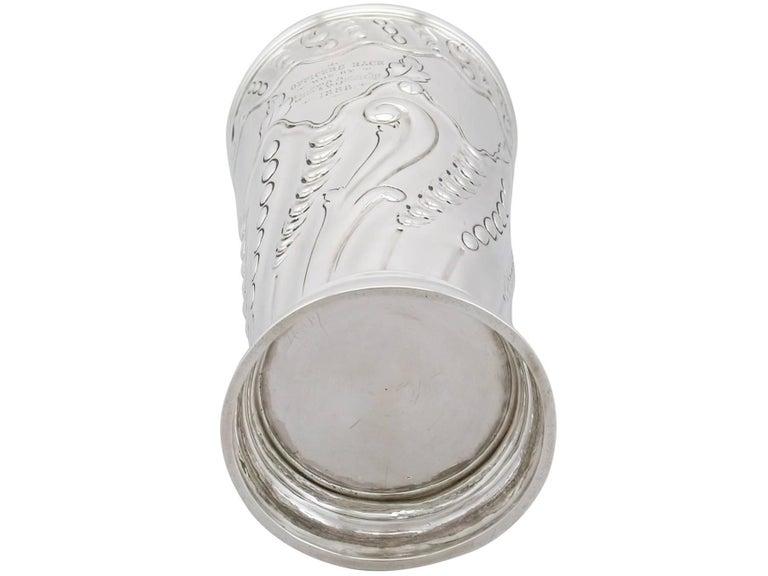 Antique Victorian Sterling Silver Vase by Frederick Elkington & Co, 1887 For Sale 4