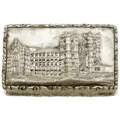Antique Victorian Sterling Silver Vinaigrette 1842