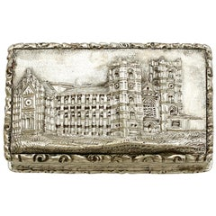 Antique Victorian Sterling Silver Vinaigrette, 1842