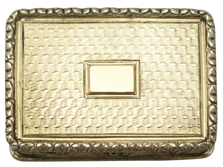 Antique Victorian Sterling Silver Vinaigrette For Sale 5