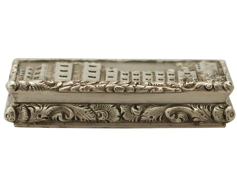 English Antique Victorian Sterling Silver Vinaigrette For Sale