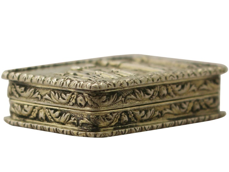 English Antique Victorian Sterling Silver Vinaigrette For Sale