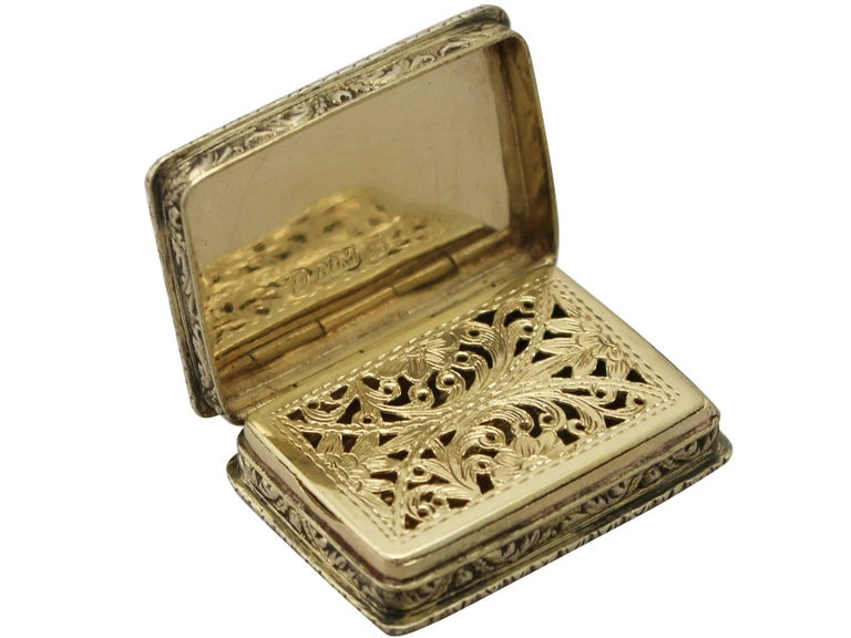 Antique Victorian Sterling Silver Vinaigrette In Excellent Condition For Sale In Jesmond, Newcastle Upon Tyne