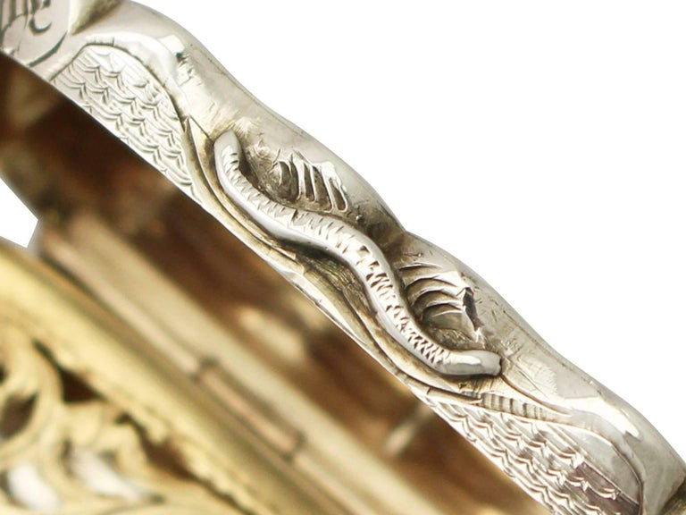 Antique Victorian Sterling Silver Vinaigrette For Sale 2