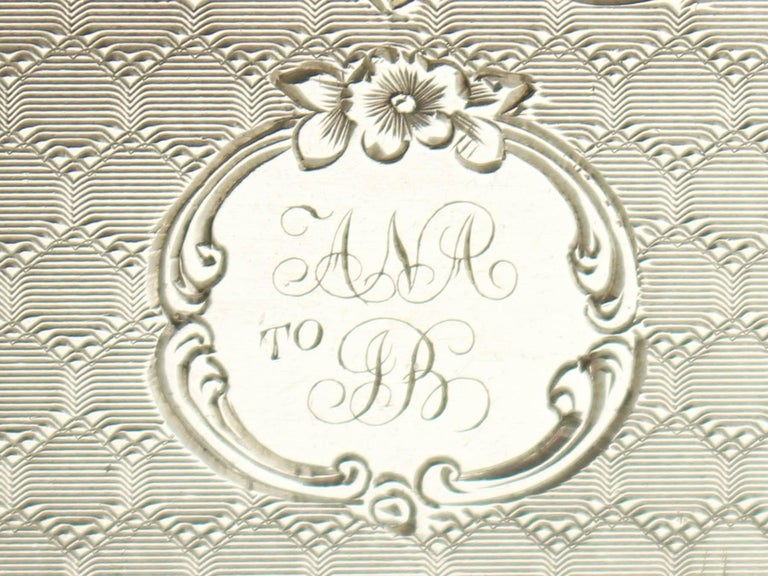 Antique Victorian Sterling Silver Vinaigrette For Sale 4