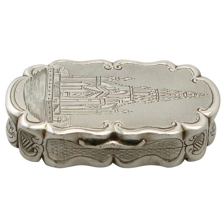 Antique Victorian Sterling Silver Vinaigrette For Sale