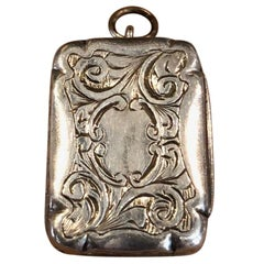 Antique Victorian Sterling Silver Vinaigrette / Vesta by Hilliard & Thomason