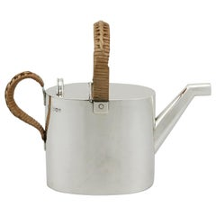 Antique Victorian Sterling Silver Watering Can, 1890s