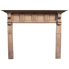 Antique Victorian Style Carved Pine Fire Surround