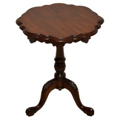Antique Victorian Style Mahogany Side Table