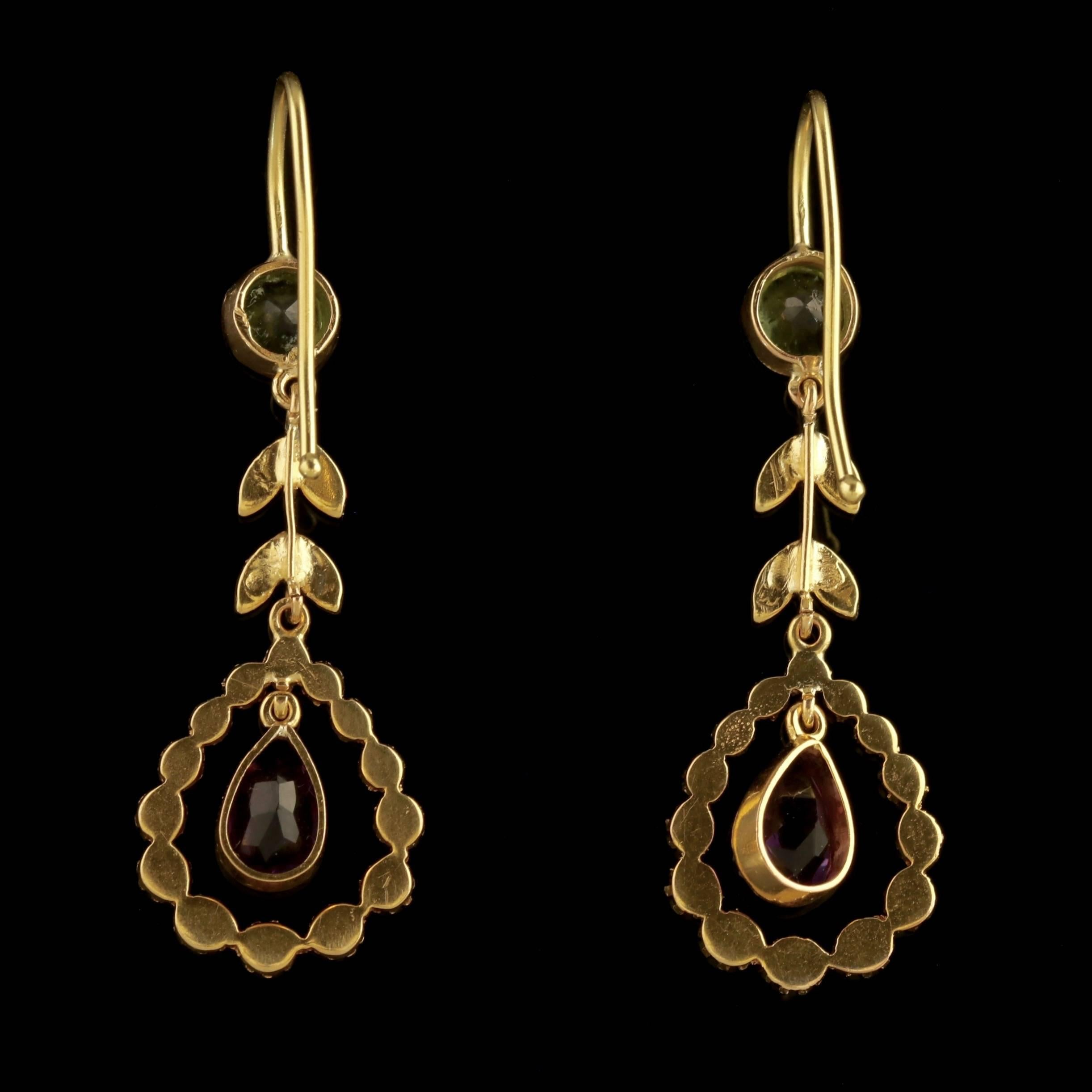 pendant earrings products victorian dangling antique ear gold cased etruscan