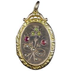 Antique Victorian Suffragette Locket 9 Carat Gold, circa 1900