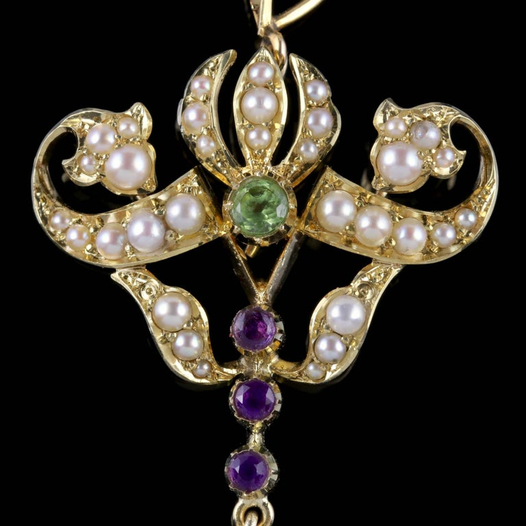 To read more please click continue reading below-  This stunning antique 15ct Gold Victorian pendant was made representing the Suffragette movement, Circa 1900.   Suffragettes liked to be depicted as feminine, their jewellery popularly consisted of