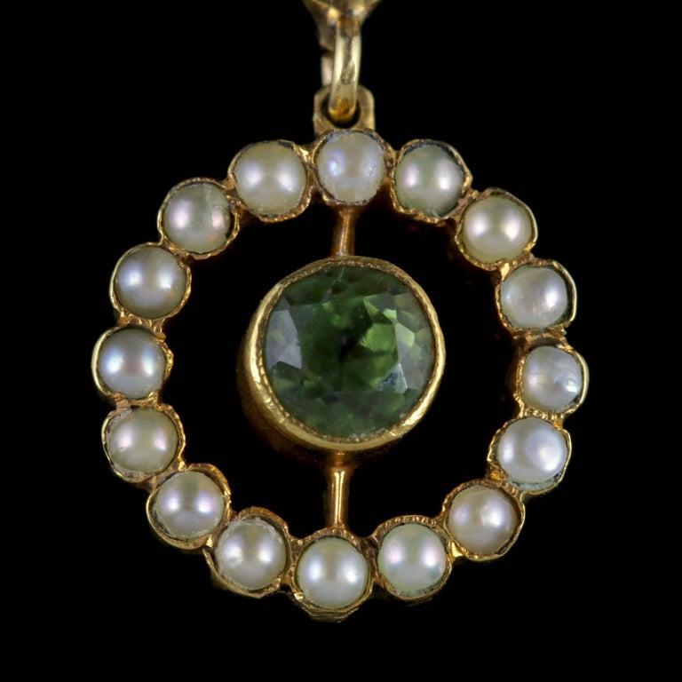 Antique Victorian Suffragette Pendant Necklace 15 Carat Gold, circa 1900 In Excellent Condition For Sale In Lancaster, Lancashire