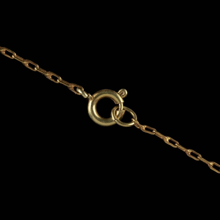 Antique Victorian Suffragette Pendant Necklace 15 Carat Gold, circa 1900 For Sale 3