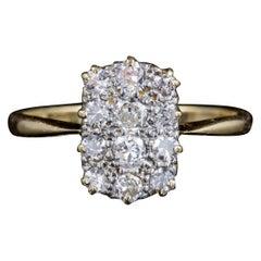 Antique Victorian Twelve-Stone Diamond Cluster Ring 18 Carat Gold, circa 1900