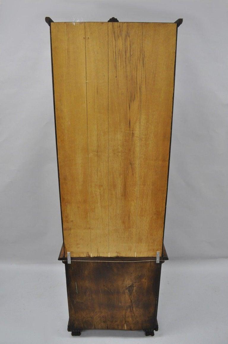 Antique Victorian Two Piece Walnut Tall Curio Gun Rifle