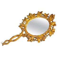 Antique Victorian Vanity Mirror, Black Forest, circa 1900