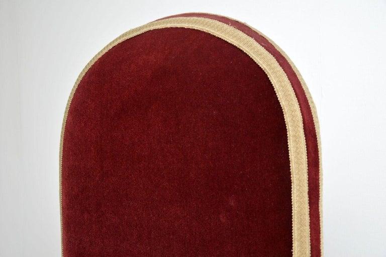 Antique Victorian Velvet Porters Chair / Armchair 4