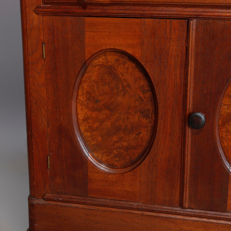 Antique Victorian Walnut & Burl Marble-Top Wash Stand, circa 1880 For Sale 4