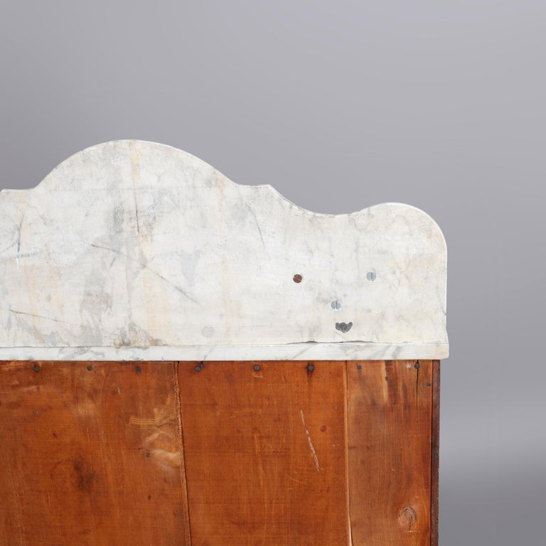 Antique Victorian Walnut & Burl Marble-Top Wash Stand, circa 1880 For Sale 10