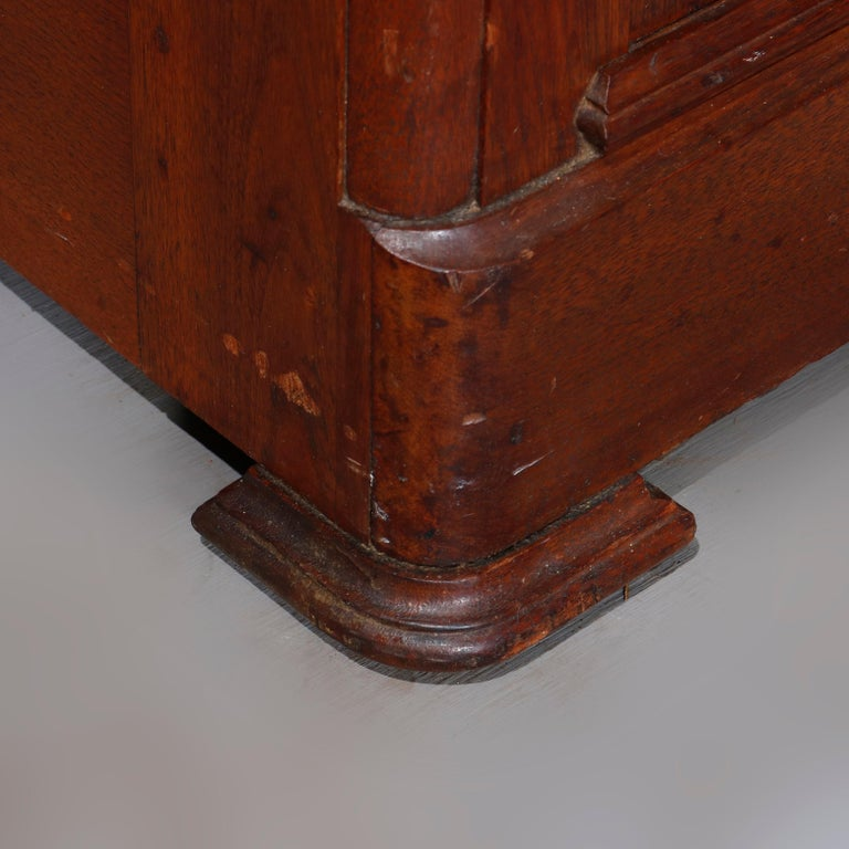 Antique Victorian Walnut & Burl Marble-Top Wash Stand, circa 1880 For Sale 11