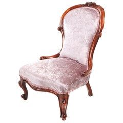 Antique Victorian Walnut Ladies Chair