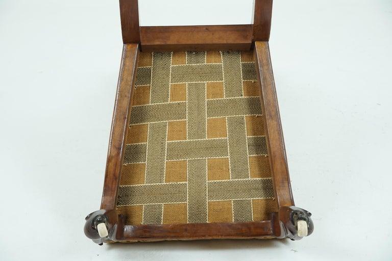 Antique Victorian Walnut Prayer Chair, Prie Dien Chair, Scotland 1870, 1638 For Sale 5