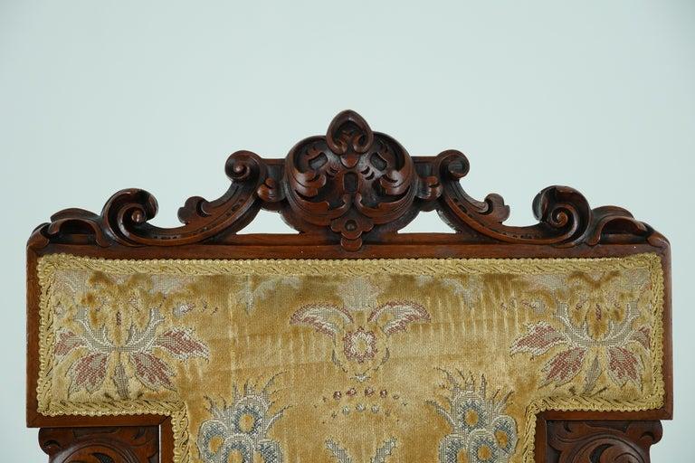 Antique Victorian Walnut Prayer Chair, Prie Dien Chair, Scotland 1870, 1638 For Sale 2
