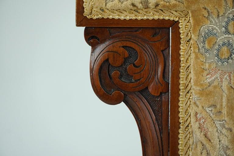 Antique Victorian Walnut Prayer Chair, Prie Dien Chair, Scotland 1870, 1638 For Sale 3