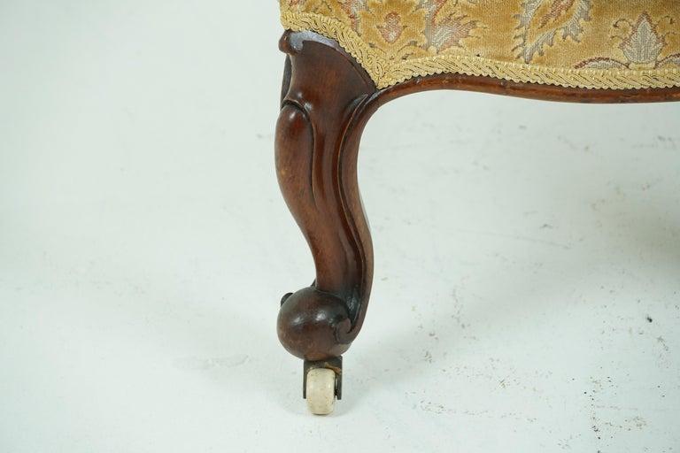 Antique Victorian Walnut Prayer Chair, Prie Dien Chair, Scotland 1870, 1638 For Sale 4