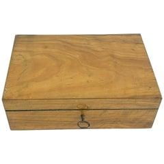 Antique Victorian Walnut Sewing Box, Scotland, 1880 1961