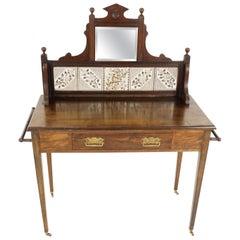 Antique Victorian Walnut Washstand, Vanity, Dresser, Scotland 1890, B2154