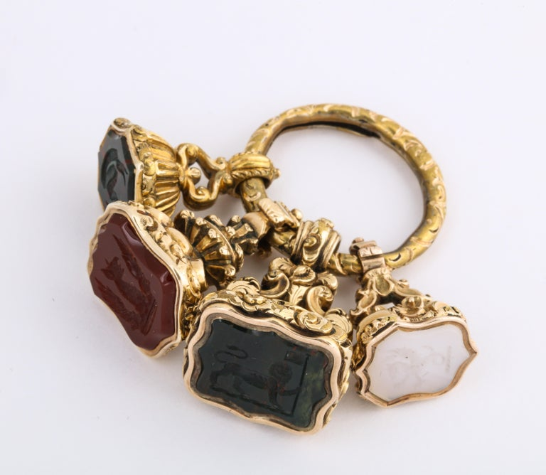 Antique Victorian Winston Churchill Family Fobs of Duke of Marlborough In Excellent Condition In Stamford, CT