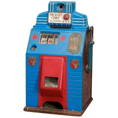 Antique Victory Chief Arcade or Casino Five Cent Slot Machine by Jennings