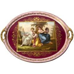 Antique Vienna Enameled Plate, circa 1870
