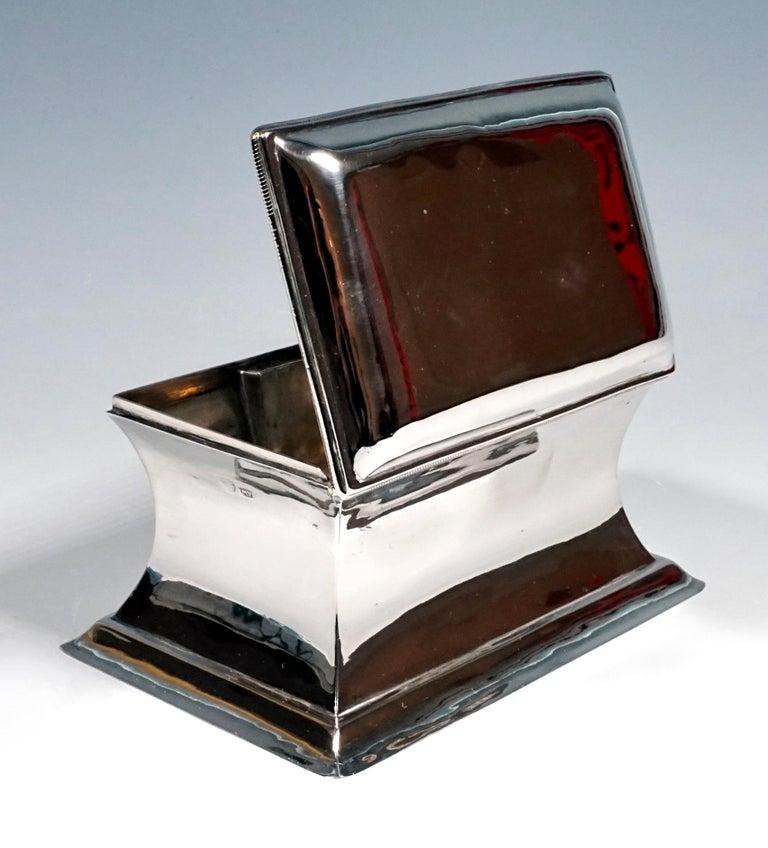 Hand-Crafted Antique Vienna Silver Biedermeier Sugar Box Anton Weichesmueller, Made 1844 For Sale