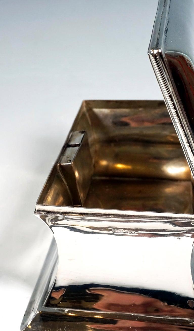 Mid-19th Century Antique Vienna Silver Biedermeier Sugar Box Anton Weichesmueller, Made 1844 For Sale