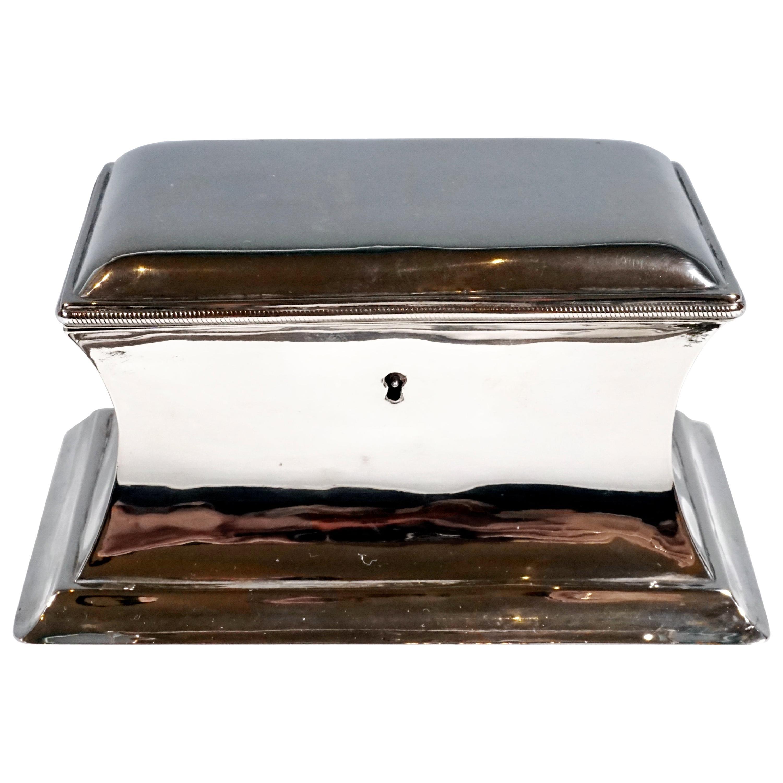 Antique Vienna Silver Biedermeier Sugar Box Anton Weichesmueller, Made 1844
