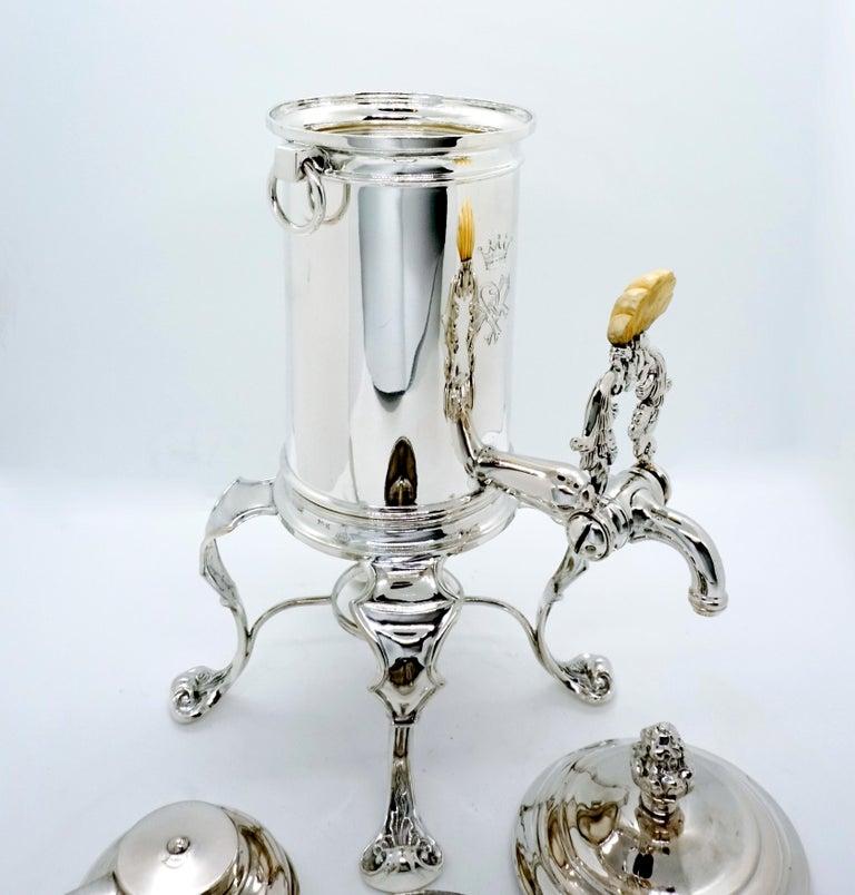 Austrian Antique Vienna Silver Coffee Maker by Mayerhofer & Klinkosch 13 Lot, circa 1844 For Sale