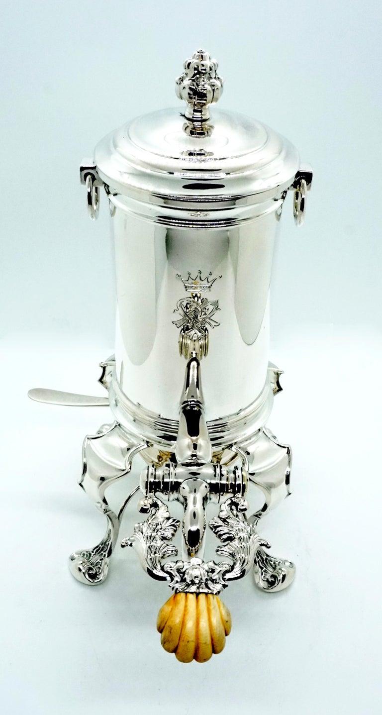 Antique Vienna Silver Coffee Maker by Mayerhofer & Klinkosch 13 Lot, circa 1844 In Good Condition For Sale In Vienna, AT