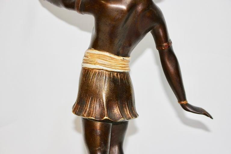 Antique Viennese Bronze Sculpture, Oriental Nude Dancer, Belly Dance For Sale 1