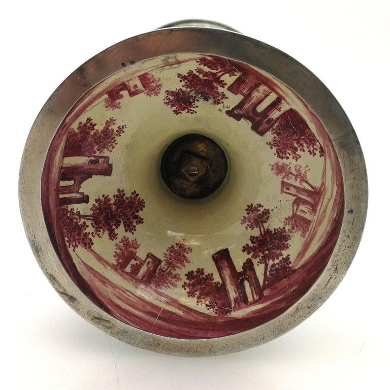 Antique Viennese Enamel & Silver Trinket Box circa 1880 in Shape of Cup & Cover For Sale 9
