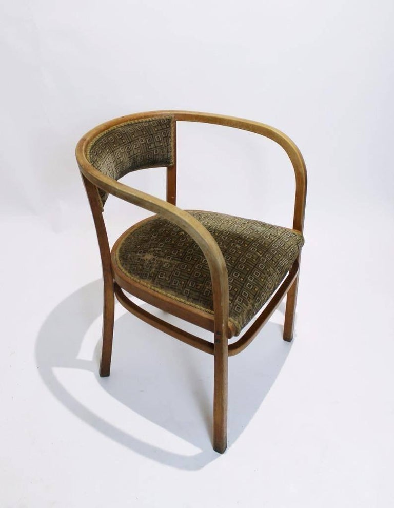 Art Nouveau Antique Viennese Secessionist Bentwood Armchair by Otto Wagner for Thonet For Sale
