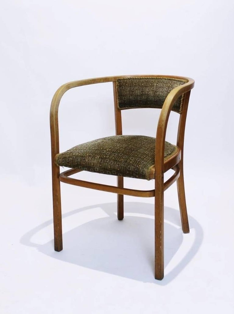 Antique Viennese Secessionist Bentwood Armchair by Otto Wagner for Thonet In Good Condition For Sale In Debrecen-Pallag, HU