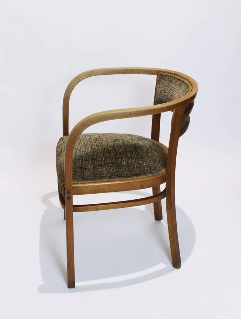 Early 20th Century Antique Viennese Secessionist Bentwood Armchair by Otto Wagner for Thonet For Sale
