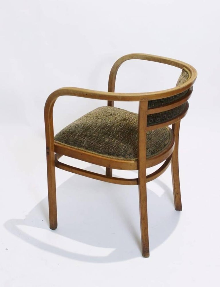 Antique Viennese Secessionist Bentwood Armchair by Otto Wagner for Thonet For Sale 1