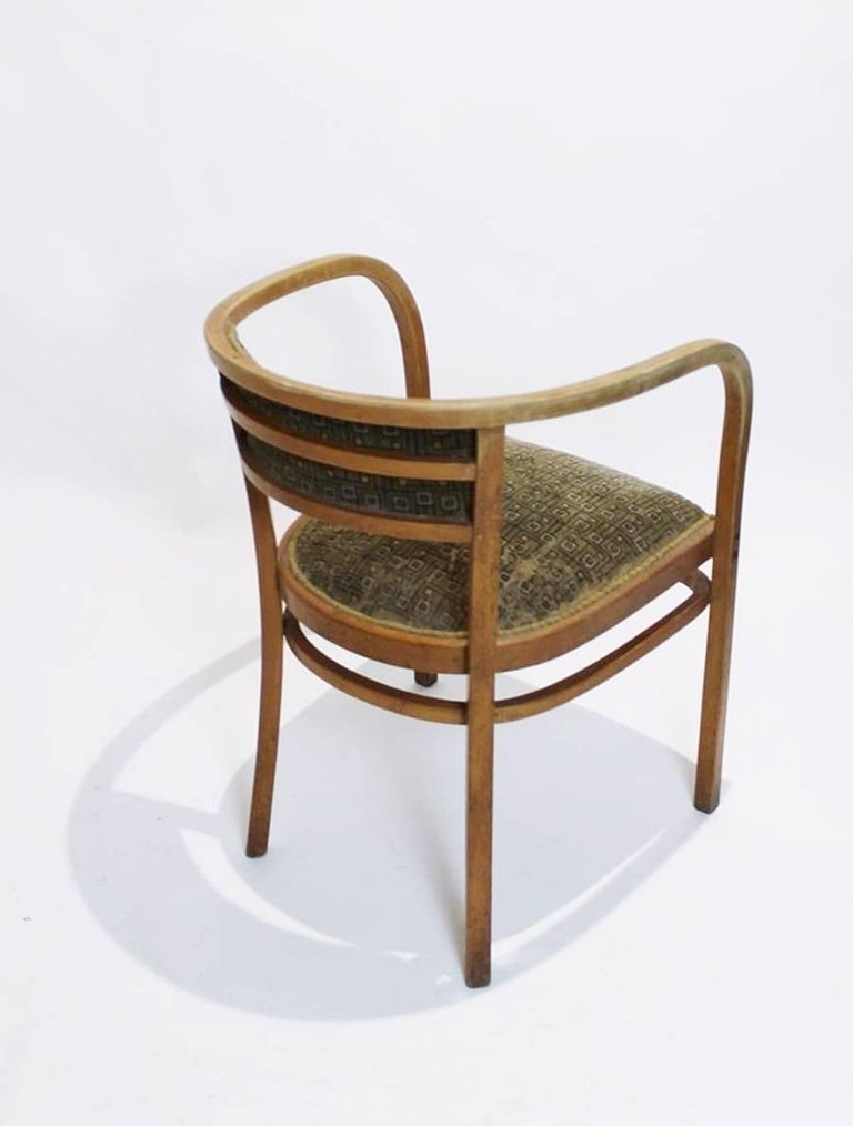 Antique Viennese Secessionist Bentwood Armchair by Otto Wagner for Thonet For Sale 3