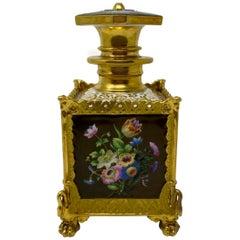 """Antique """"Vieux Paris"""" Mid-19th Century Porcelain Parfumeur"""